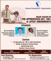 Online Session On The Apprentices Act, 1961 & Latest Amendments